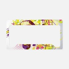 Colorful Retro Microphone Mus License Plate Holder
