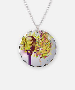 Colorful Retro Microphone Mu Necklace