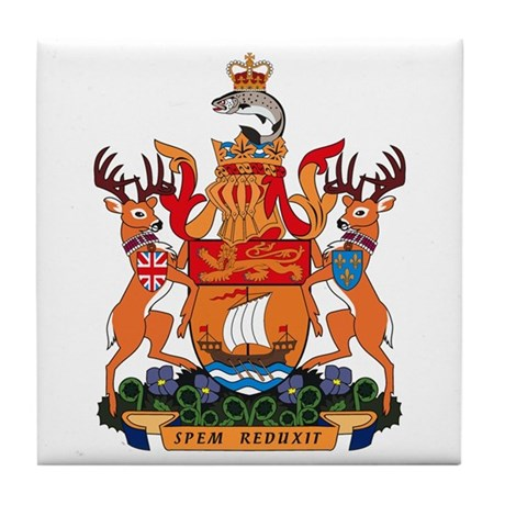 New Bruswick Coat of Arms Tile Coaster