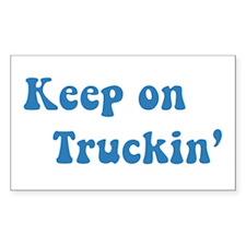 Keep on Truckin' Rectangle Decal