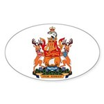 New Bruswick Coat of Arms Oval Sticker