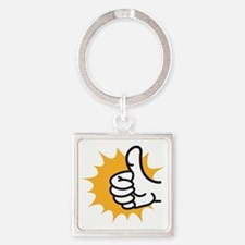 thumbs up Square Keychain