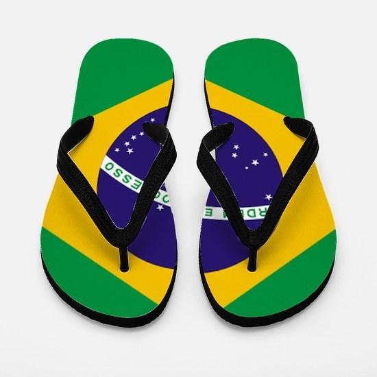 Brazilian Brazil Flag Flip Flops