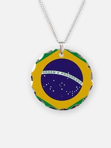 Brazilian Brazil Flag Necklace