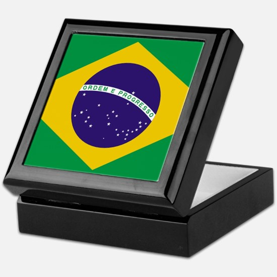 Brazilian Brazil Flag Keepsake Box