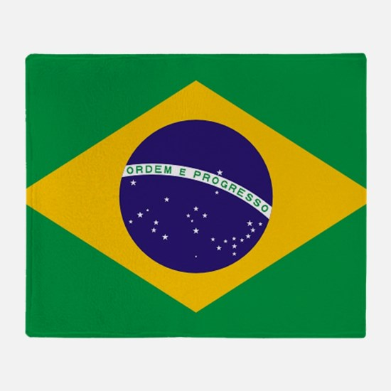 Brazilian Brazil Flag Throw Blanket