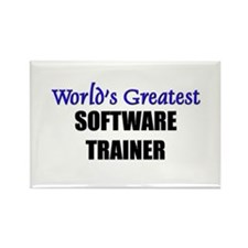 Worlds Greatest SOFTWARE TRAINER Rectangle Magnet