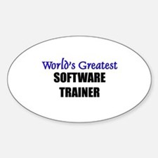 Worlds Greatest SOFTWARE TRAINER Oval Decal
