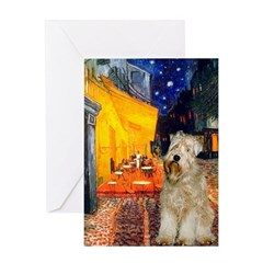 Cafe & Wheaten Greeting Card