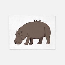 Hippopotamus 5'x7'Area Rug