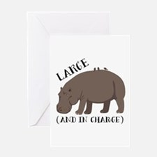 Large In Charge Greeting Cards