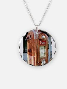 N tane antique gas pump. Necklace
