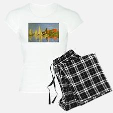 Claude Monet Regatta at Arg Pajamas