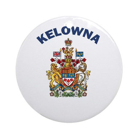 Kelowna Coat of Arms Ornament (Round)
