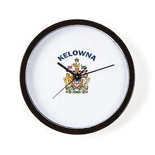 Kelowna Coat of Arms Wall Clock