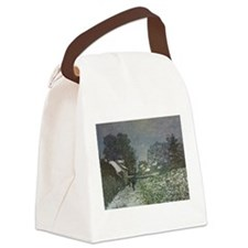 Snow at Argenteuil II by Claude M Canvas Lunch Bag