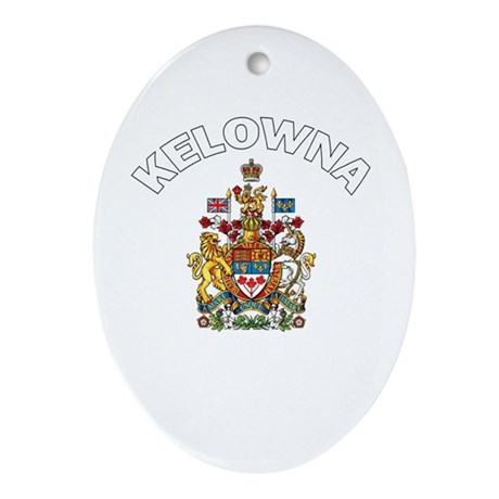 Kelowna Coat of Arms Oval Ornament