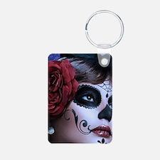 Oval framed face Keychains