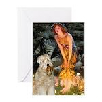 Fairies & Wheaten Terrier Greeting Card
