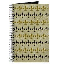 Fleur de lis Vintage Background Journal