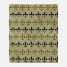 Fleur de lis Vintage Background Throw Blanket
