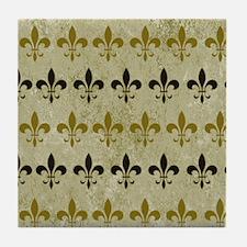 Fleur de lis Vintage Background Tile Coaster