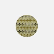 Fleur de lis Vintage Background Mini Button
