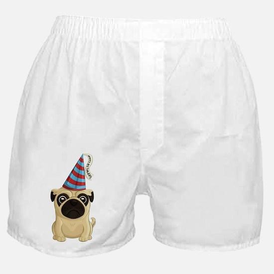 Happy Birthday Pug Boxer Shorts