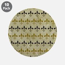 """Fleur de lis Vintage Backgro 3.5"""" Button (10 pack)"""