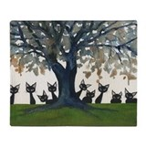 Cat cats tree Fleece Blankets