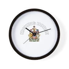 Kicking Horse Coat of Arms Wall Clock