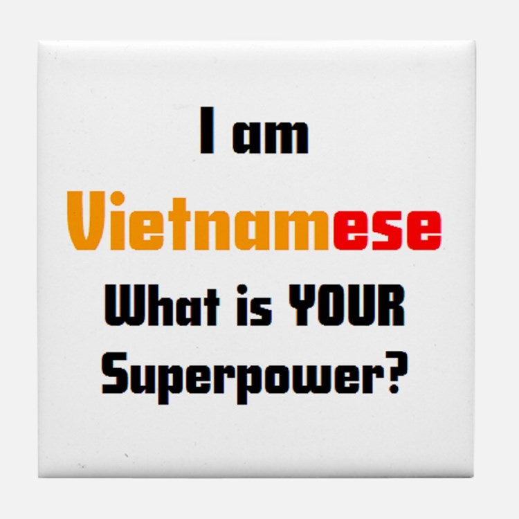 i am vietnamese Tile Coaster
