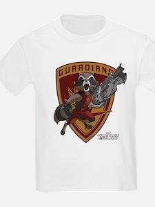 GOTG Animated Rocket Badge T-Shirt