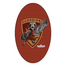 GOTG Animated Rocket Badge Decal