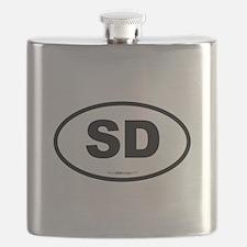 South Dakota SD Euro Oval Flask