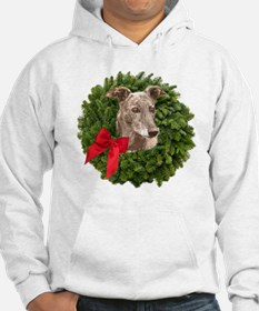 Greyhound in Christmas Wreath Hoodie