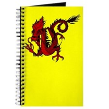Red Asian Dragon Journal