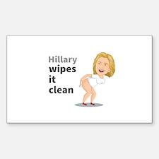 Hillary Clinton Wipes It Clean Mug Decal