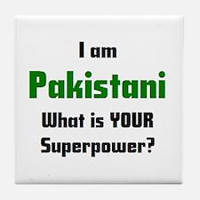 i am pakistani Tile Coaster