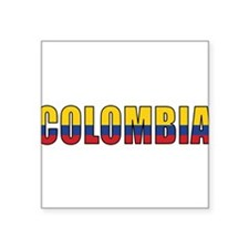 "Unique Colombiano Square Sticker 3"" x 3"""