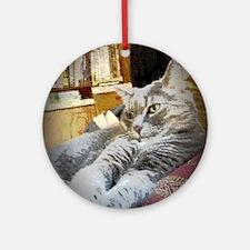 Cute Cat design Round Ornament