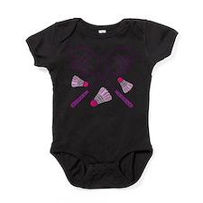 Cute Badminton Baby Bodysuit