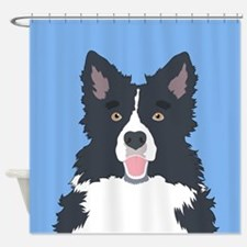 Border Collie Shower Curtain