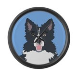 Border collie Giant Clocks