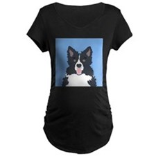 Border Collie Maternity T-Shirt
