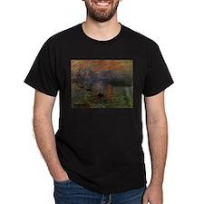 Impression, Sunrise by Claude Mone T-Shirt