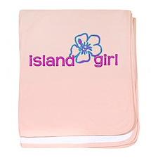 Island Girl baby blanket