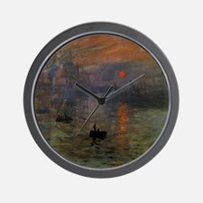 Impression, Sunrise by Claude Monet Wall Clock