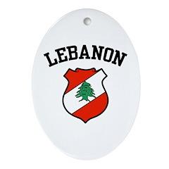 Lebanon Coat of Arms Oval Ornament