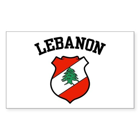 Lebanon Coat of Arms Rectangle Sticker